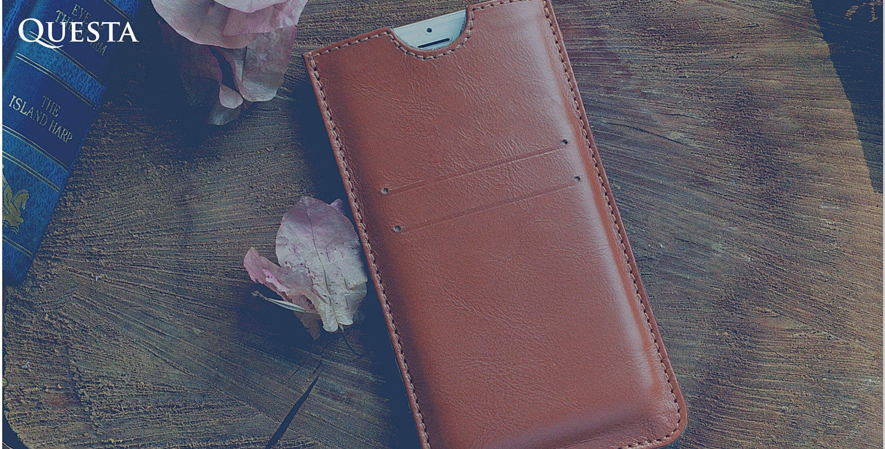Questa Roots Leather iPhone Sleeve