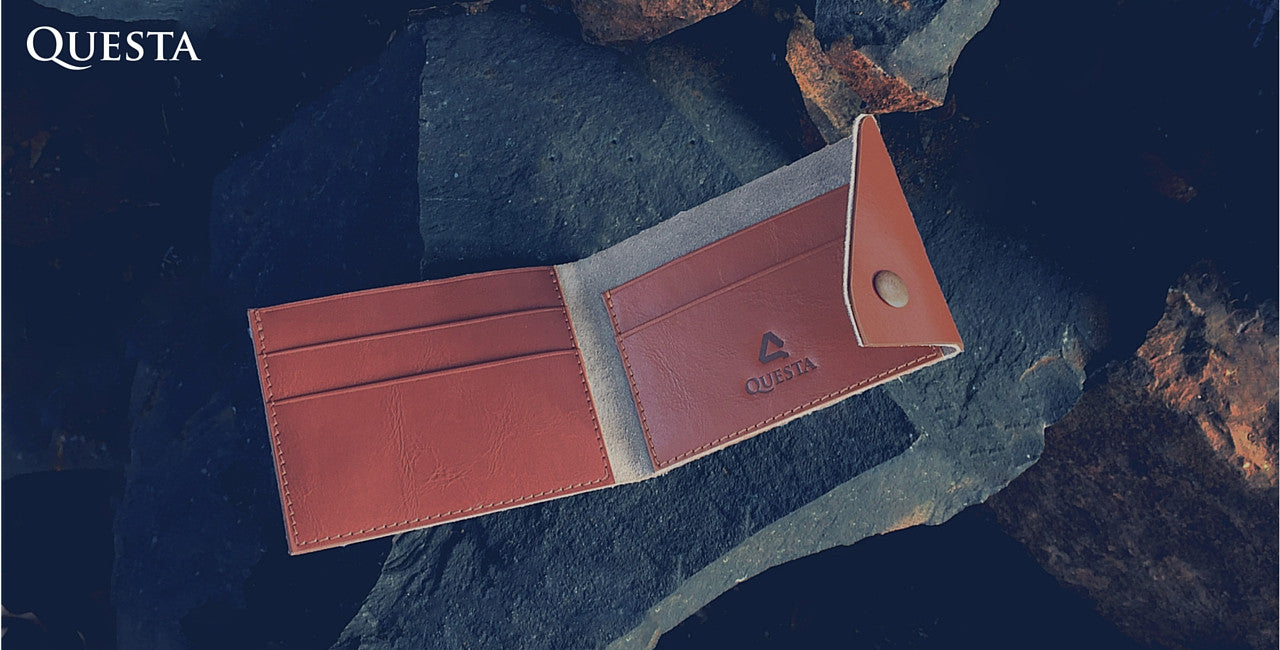 Questa Roots Leather Tap Card Holder