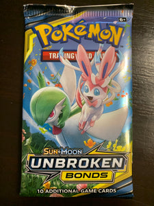 Pokemon: Unbroken Bonds booster pack