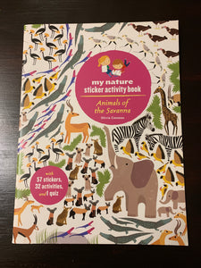 My Nature Sticker Activity Book: Animals of Savannah