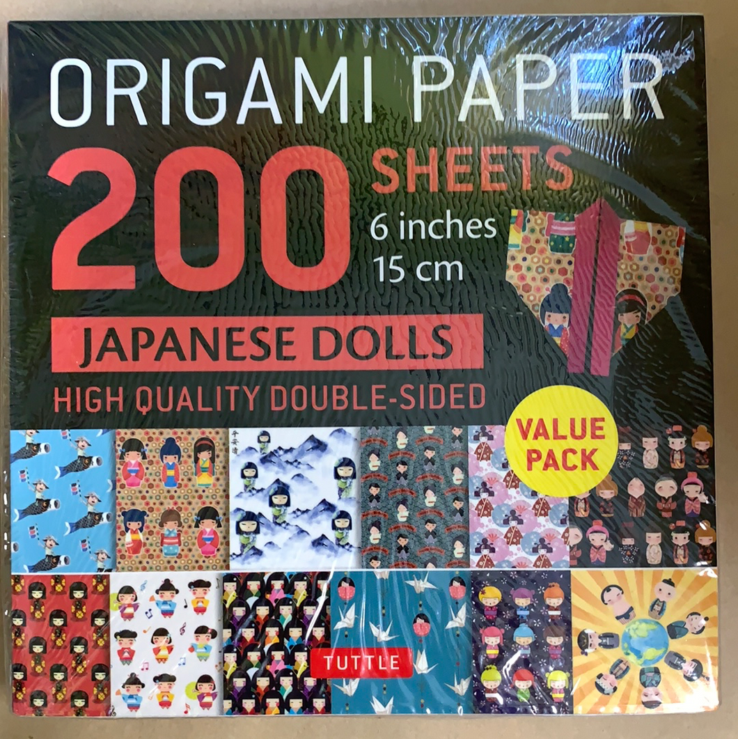 Origami Paper: Japanese Dolls