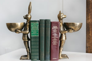 Eloise bronzed aluminum serving dish/bookend