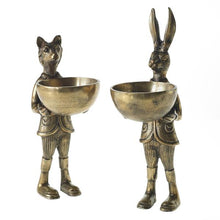 Load image into Gallery viewer, Eric + Eloise bronzed aluminum serving dish/bookends set of 2