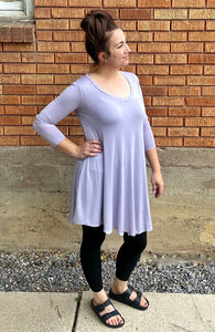 Long Sleeved Solid Dress