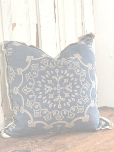 Edge Hill Down Pillow, Wedgewood