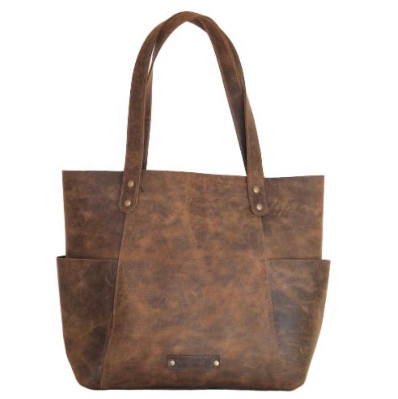 XL LEATHER TOTE - Genuine Leather