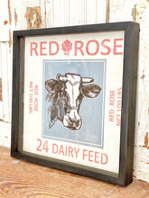 Load image into Gallery viewer, Feedsack Dairy Framed Print