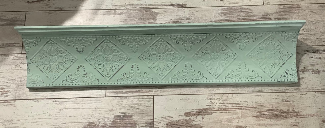 Tin and Wood Ceiling tile Shelf
