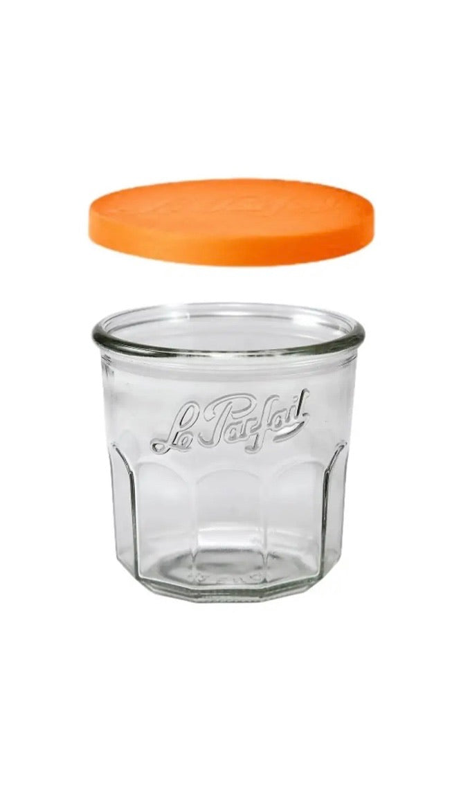 French Jam Pot Faceted Drinking Glass