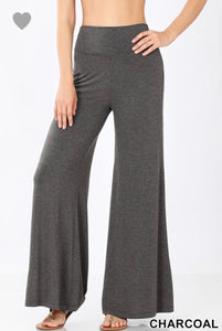 Palazzo Pants in Charcoal