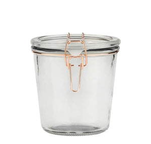Hermetic Clamp Jar with rose gold clasp