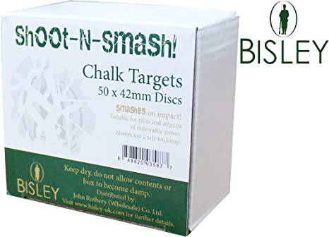 Bisley Shoot N Smash Chalk Targets x 50