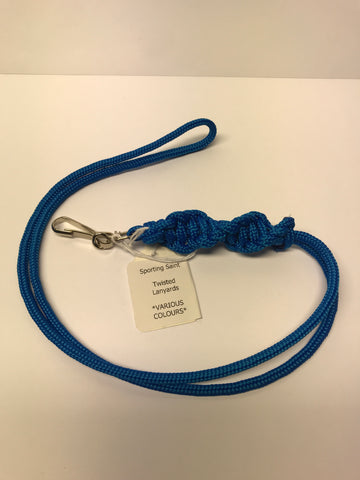 Sporting Saint - Twisted Lanyard - Blue