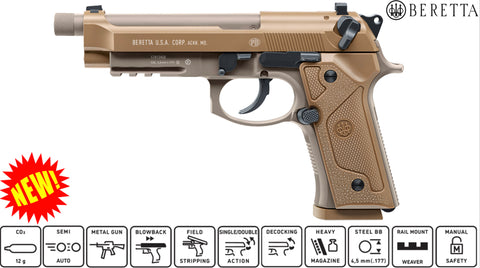 Beretta M9A3 Full Metal Co2 - Air Pistol - BB - .177 - 4.5mm
