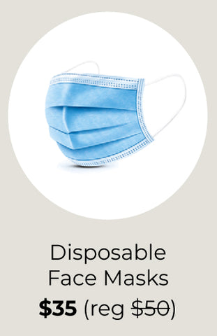 Disposable 3Ply Face Mask (box of 50)
