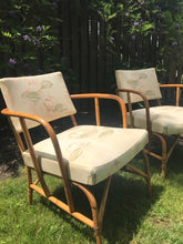 Load image into Gallery viewer, Pair of Vintage Mid Century Rattan Chairs