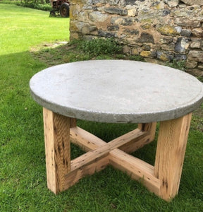 Circa 1779 Concrete Top Cocktail Table