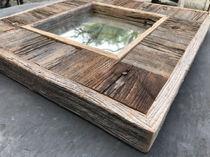 Custom Made Reclaimed Wood Square Mirror