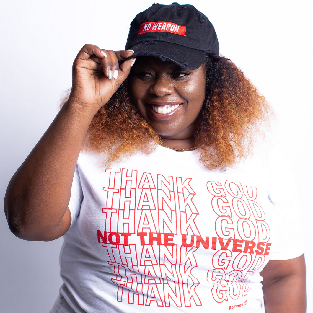 Thank God, Not The Universe- White & Red
