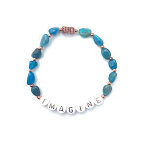 Apatite IMAGINE Crystal Intention Bracelet - Rose Gold