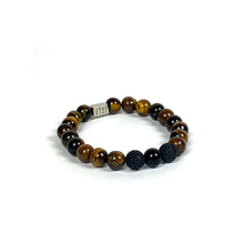 Load image into Gallery viewer, Wyse Design | Bespoke Designer Crystal bracelet | Spring/Summer 2020 Power collection Prosperity bracelet - Lava, Onyx, Tiger Eye