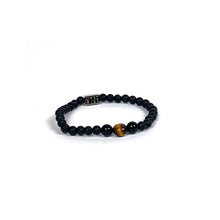 Load image into Gallery viewer, Wyse Design | Bespoke Designer Crystal bracelet | Spring/Summer 2020 Power collection Courage bracelet - Lava, Onyx, Tiger Eye