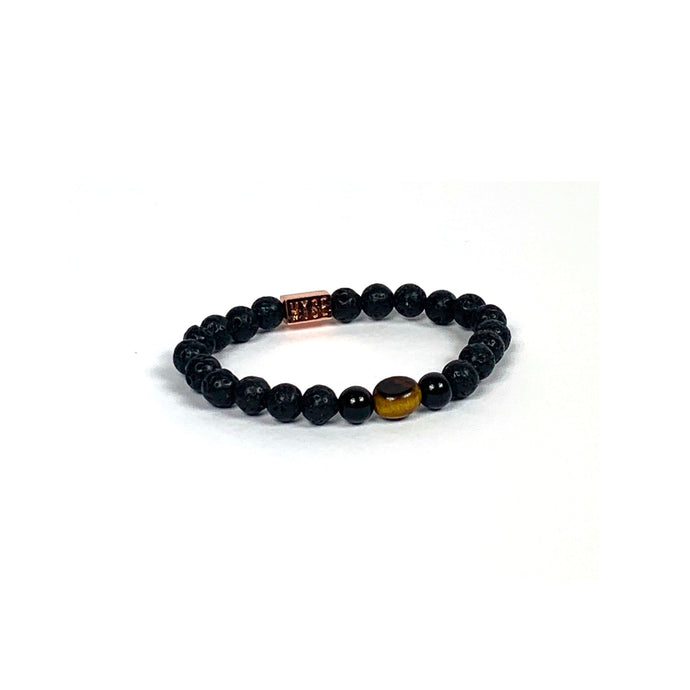 Wyse Design | Bespoke Designer Crystal bracelet | Spring/Summer 2020 Power collection Courage bracelet - Lava, Onyx, Tiger Eye
