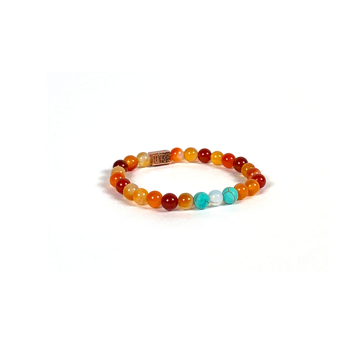 Wyse Design | Bespoke Crystal bracelet | Spring/Summer 2020 Evolve collection Success bracelet - Turquoise, Opalite Opal, Carnelian