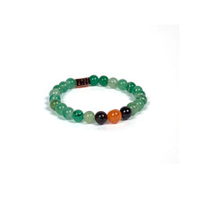Load image into Gallery viewer, Wyse Design | Bespoke Designer Crystal bracelet | Spring/Summer 2020 Rejuvenate collection Healing bracelet - Carnelian, Green Aventurine, Garnet
