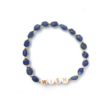 Load image into Gallery viewer, Lapis Lazuli WISH Crystal Intention Bracelet - Gold