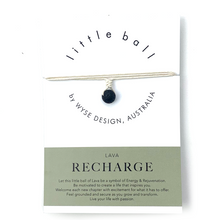 Load image into Gallery viewer, Wyse Design little ball Recharge wellness Lava crystal necklace gift card Cream