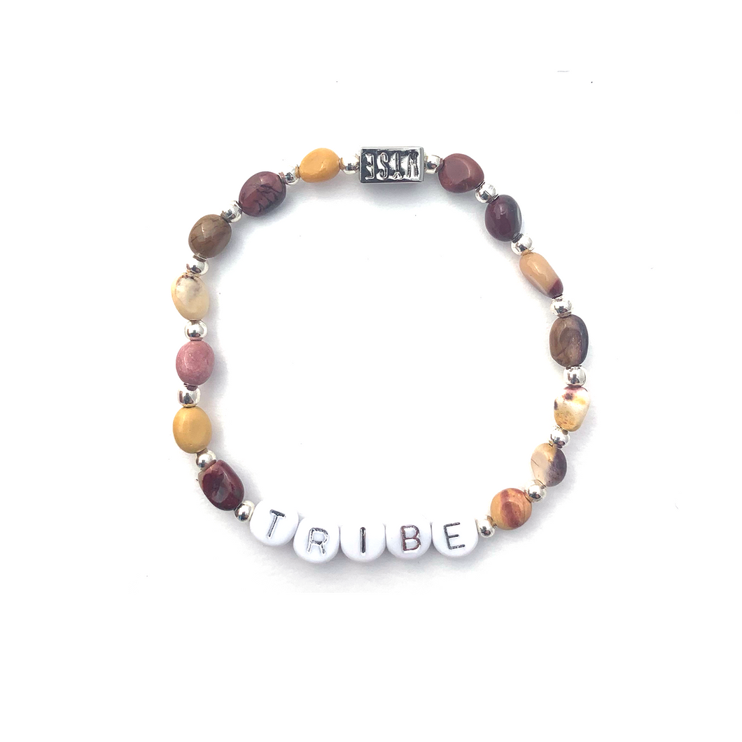 Mookaite TRIBE Crystal Intention Bracelet - Silver