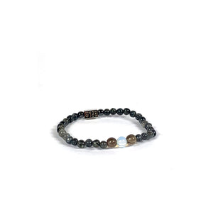 Wyse Design | Bespoke Designer Crystal bracelet | Spring/Summer 2020 Motivation collection Confidence bracelet - Labradorite, Smoky Quartz, Opalite Opal