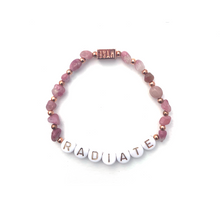 Load image into Gallery viewer, Pink Tourmaline RADIATE Crystal Intention Bracelet - Rose Gold