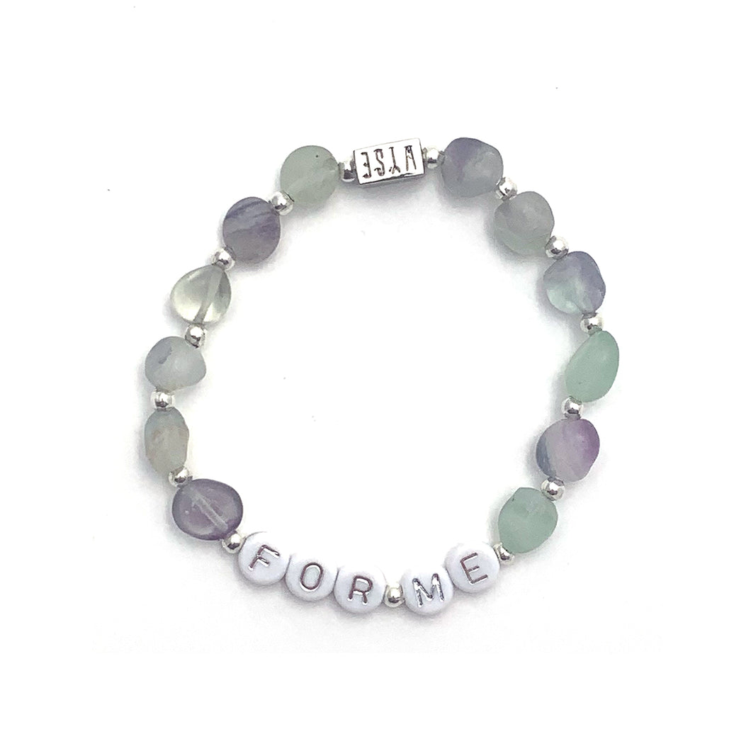 Fluorite FOR ME Crystal Intention Bracelet - Silver