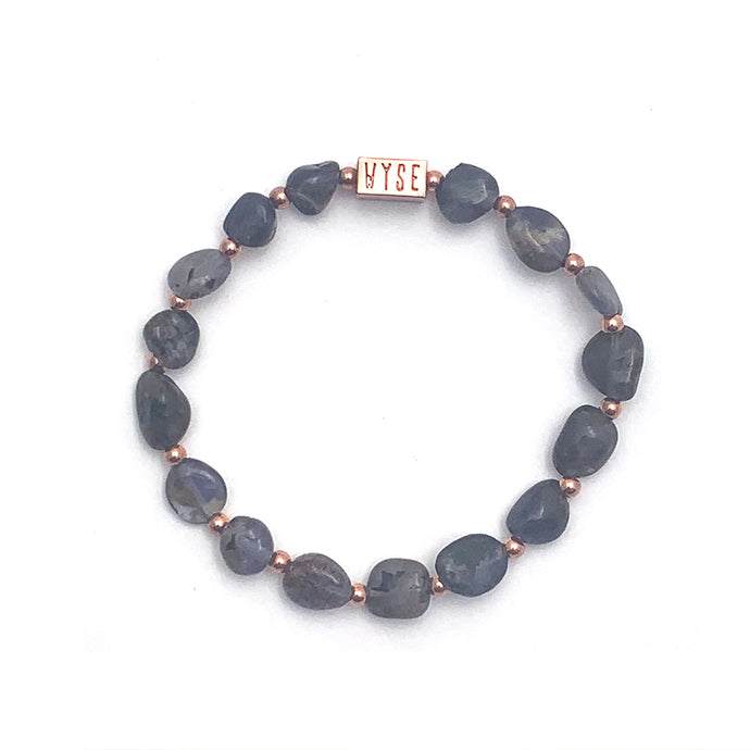 Wyse Design Australia Iolite Crystal bracelet Rose gold plated jewellery