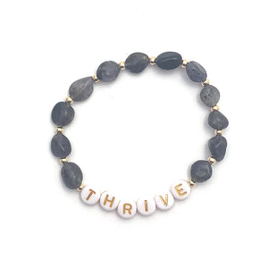 Iolite THRIVE Crystal Intention Bracelet - Gold