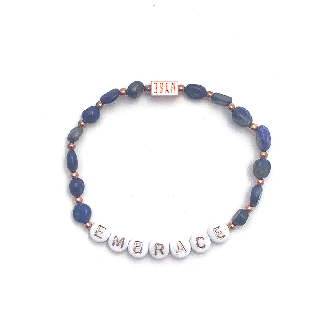 Lapis Lazuli EMBRACE Crystal Intention Bracelet - Rose Gold