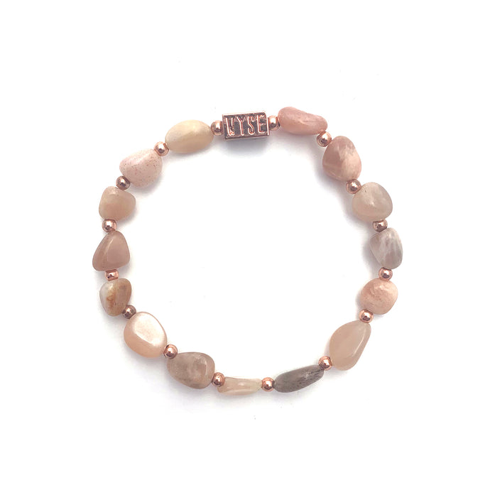 Wyse Design Australia Sunstone Crystal bracelet Rose gold plated jewellery