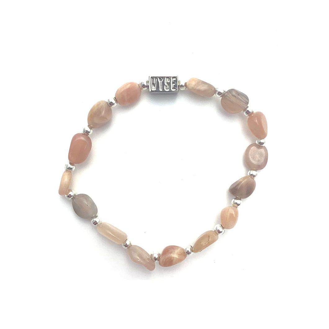 Sunstone Crystal Stacking Bracelet - Gold, Silver, Rose Gold