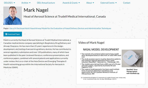 Use of a Sectional Adult Nasal Airway Model for the Evaluation of Nasal Delivery Devices and Administration Techniques; NasoNeb
