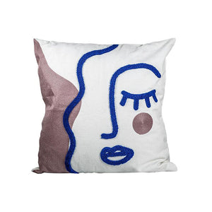 Texture Woman Embroidered pillow