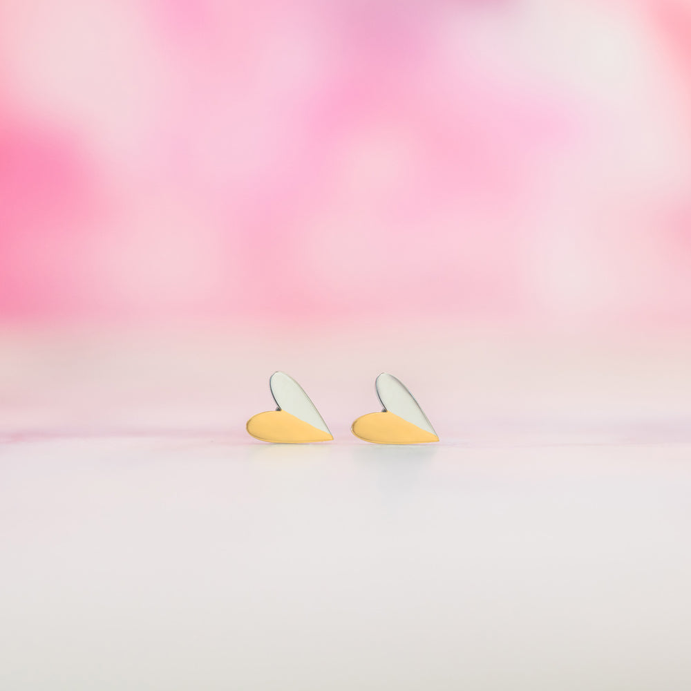 Split Heart Earrings