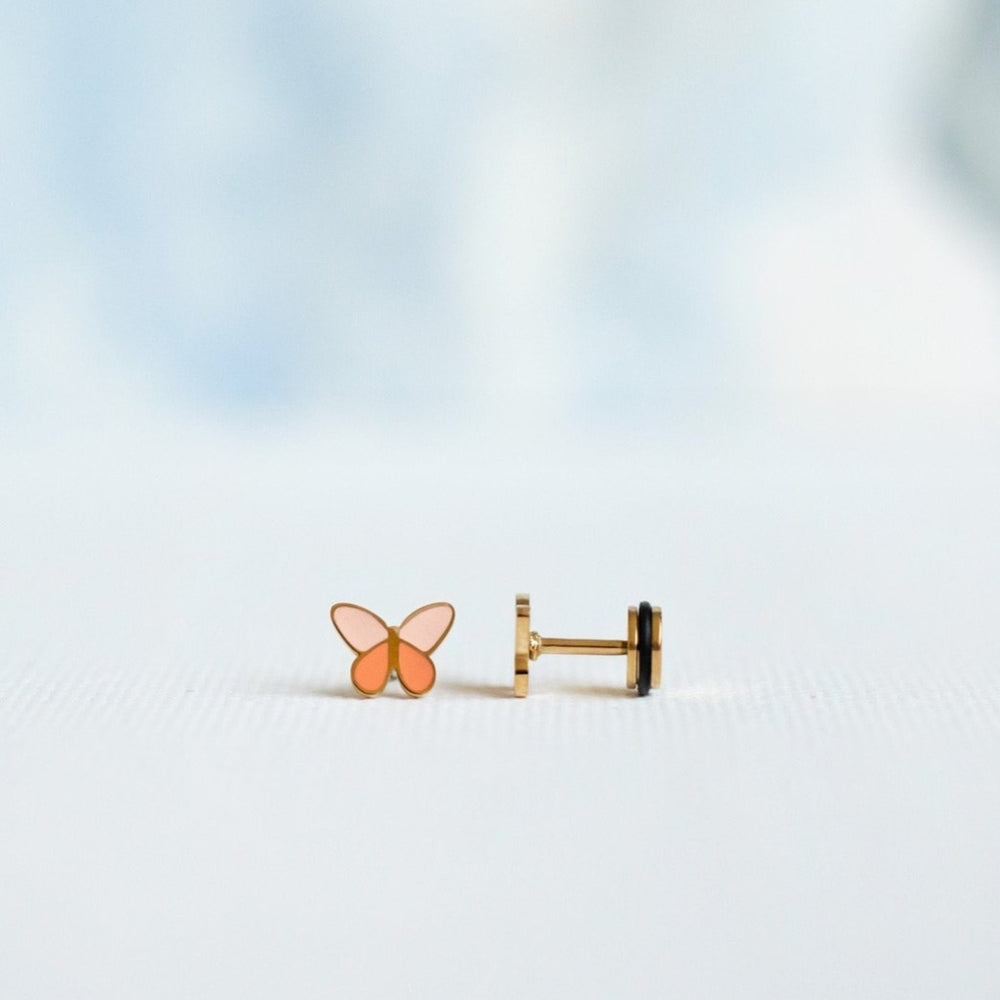 Butterfly Screw Back Earring