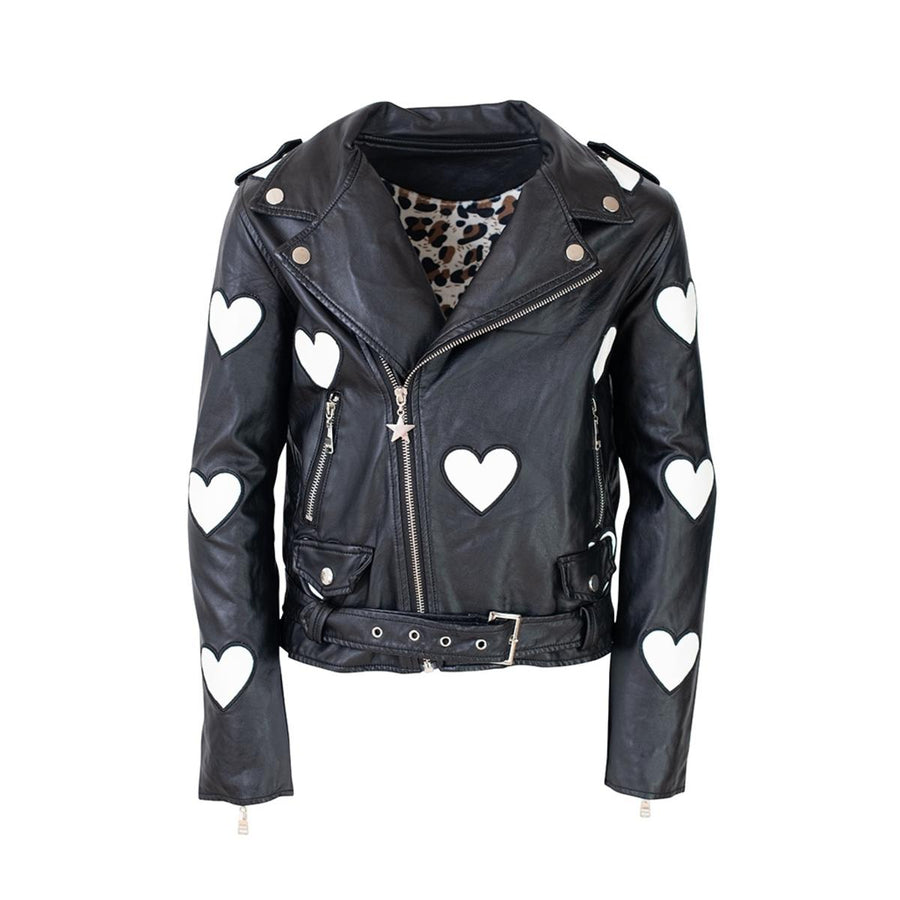 I HEART YOU VEGAN LEATHER JACKET