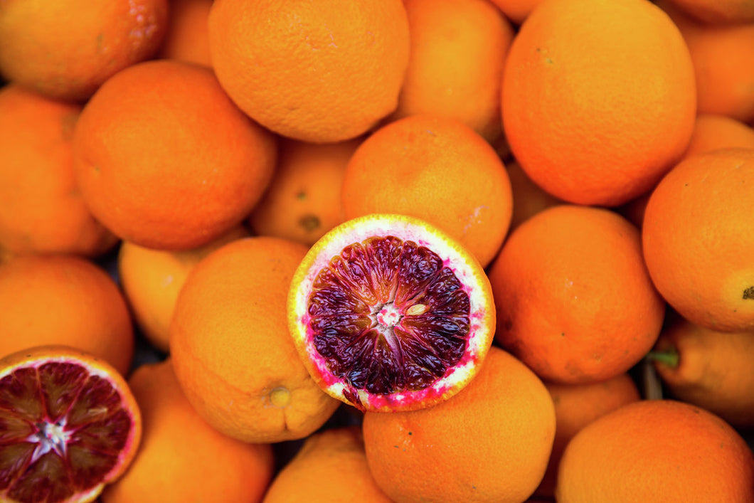 Sicilian blood oranges photo for printing