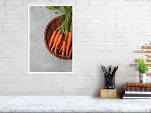 31.2 cm x 47.0 cm, 12.3 inches x 18.5 inches food prints carrots