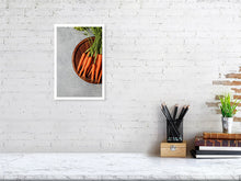 Load image into Gallery viewer, 21.5 cm x 32.0 cm, 8.4 inches x 12.6 inches Carrots fine art print