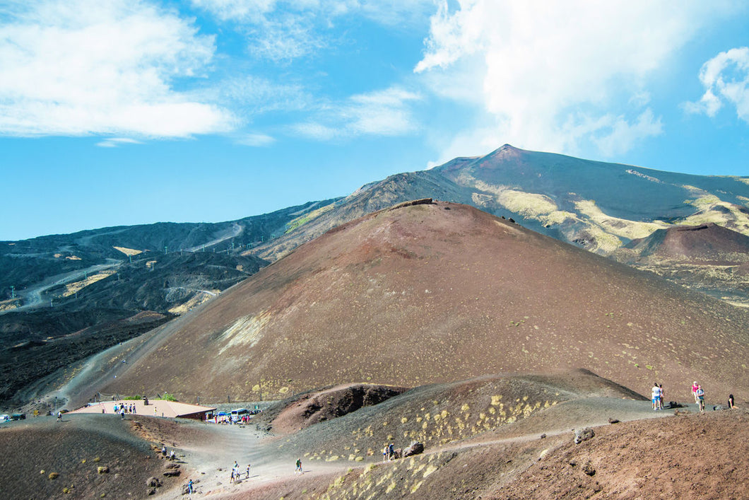 Hiking mountain Etna - Sicily landscape photography print