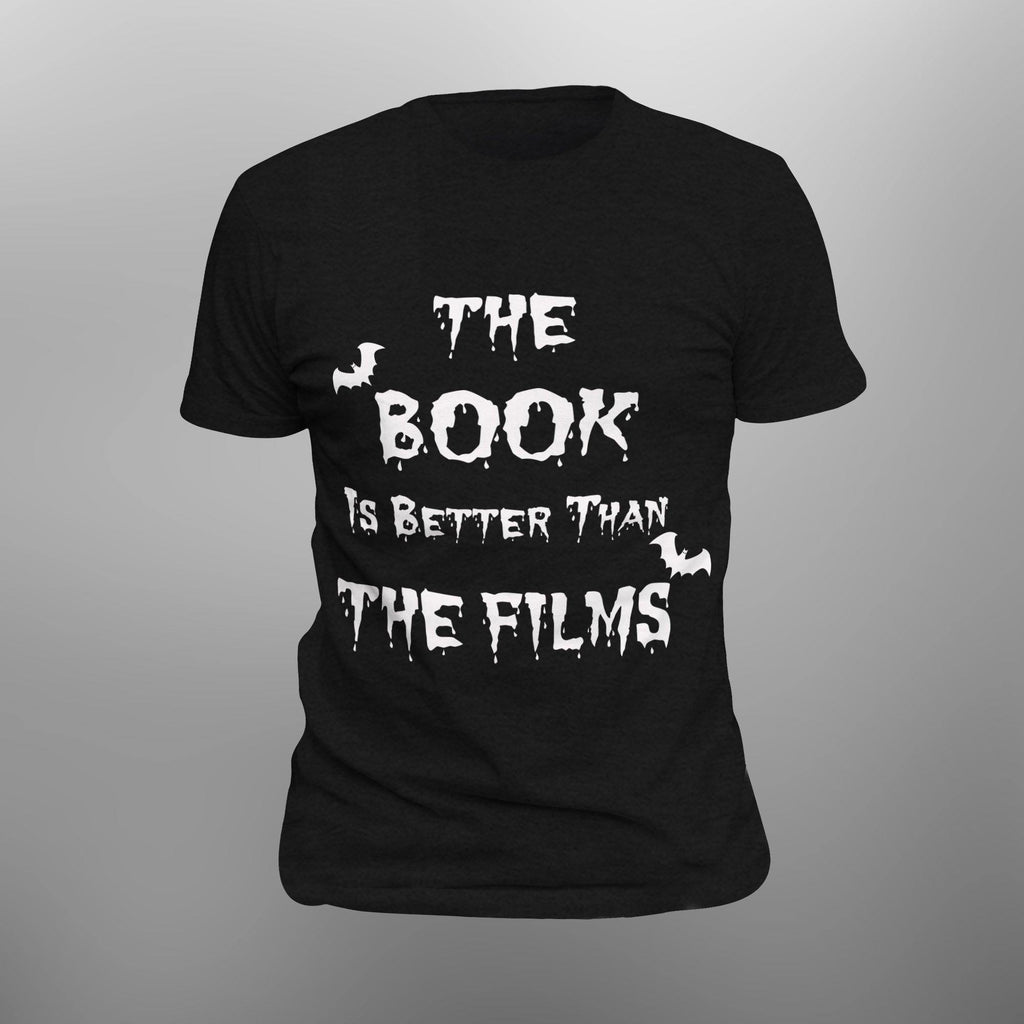 The Book is Better Than the Films Dracula Goth Anvil 980 Lightweight Fashion Short Sleeve T-Shirt  [UP TO 3XL- SHIPS FROM USA]